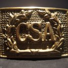 19th C Antique Style Civil War Confederate CSA Belt Buckle Plate SOLID Brass
