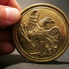 Antique Style Civil War Breast Plate Belt Buckle SOLID Brass American Eagle