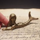 "5"" Vintage Antique Style Brass Nautical Mermaid Paperweight Desk Figure"