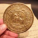 Antique Style Civil War Confederate Great Seal CS Belt Buckle Plate CAST Brass