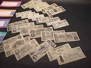 25 Antique Style Civil War CSA Confederate States Currency Money Parchment Paper