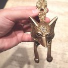 Antique Vintage Style SOLID BRASS FOX Head DOOR KNOCKER Hardware