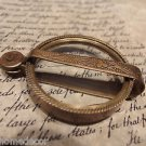 Antique Vintage Style, Brass Pocket Folding Optical Glass Magnifying Lens Loupe