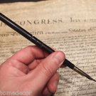 Vintage Antique Style Turned Black Horn Inkwell Ink Dipping Pen