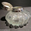 Vintage Antique Style Round Clear Glass Thick Glass Inkwell Ink pot Bottle