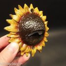 Vintage Style Cast Iron Folk Art Beer Soda Bottle Cap Sunflower Opener