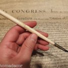 Vintage  Antique Style Turned Bone Calligraphy Inkwell Ink Dipping Pen