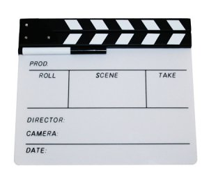 White Director's Clapboard / Clapper / Slate - 2386