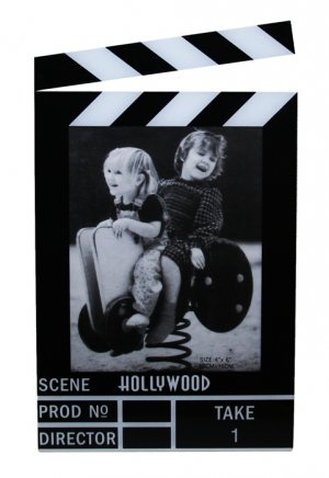 "Hollywood Acrylic Clapboard Vertical Picture Frame - 4x6"" - 5423"