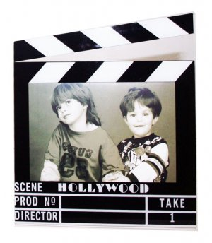 """Hollywood Acrylic Clapboard Picture Frame - 4x6"""" - 5422"""