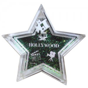 Black Walk of Fame Star Paper Weight - 6311