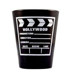 Black & White Clapboard Shotglass - 3580