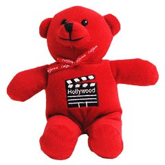 Red Hollywood Teddy Bear - 6018