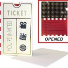 Movie Ticket Invitation Cards - 6043