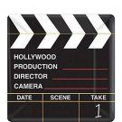 Director Cut Small Clapboard Paper Plates - 8362