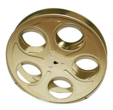 Lot 15 X Metal Movie Reels Gold ( For 35 mm Film) - 2564