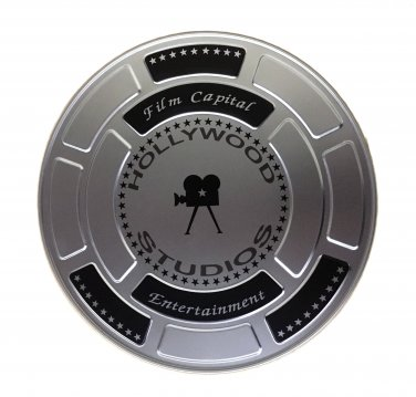 Hollywood Studios Film Cans / Canister - Silver Color - 4001