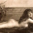 Vintage Postcard of Reclining Nude - Reproduction