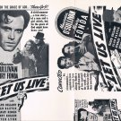 Original Movie Pressbook, LET US LIVE, 1939. Henry Fonda