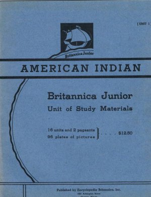 1939 American Indian Study Packet, Britannica Junior