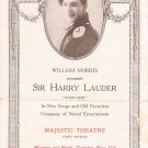 Original Performance Program, SIR HARRY LAUDER, 1923