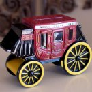 Wells Fargo Stage Coach Die Cast Metal Piggy Bank with key