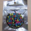 ARASHI 24 HOUR HR TV TELEVISION 2013 OFFICIAL GOOD CAN BADGE BLACK NEW