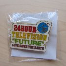 ARASHI 24 HOUR HR TV TELEVISION 2012 OFFICIAL GOOD PIN B BRAND NEW