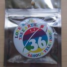 ARASHI 24 HOUR HR TV TELEVISION 2013 OFFICIAL GOOD CAN BADGE WHITE NEW