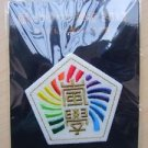WAKUWAKU SCHOOL OF ARASHI 2013 GOOD EMBROIDERED CREST BROOCH NEW WAKU WAKU JAPAN