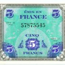 WW II Allied Military Currency - FRANCE - 5 Francs - ECA100
