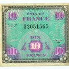 WW II Allied Military Currency - FRANCE - 10 Francs - ECA110
