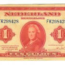 1943 Netherlands 1 Gulden Note - ED303