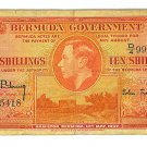 1937 Bermuda Government 10 Shillings Note - ED305