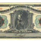 Mexico - State of Chihuahua 1913 5 Pesos - Large Size - ED306