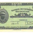 French West Africa 25 Francs Note - Banque De L'Afrique Occidentale- 1942 - ED309