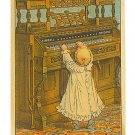 Kimball Organs Trade Card - Chicago, IL - Little Girl at Huge Organ - EG102