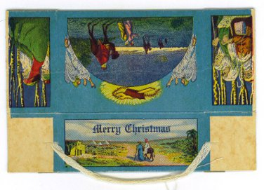 Vintage Merry Christmas Present Box - EG105