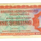 1948 British Armed Forces Special Voucher - 1 Shilling Paper Note
