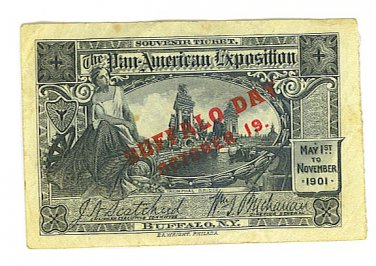1901 Pan American Exposition Admission Ticket - Buffalo, NY 1901