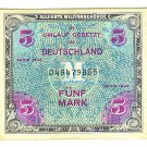 WW II Allied Military Currency - GERMANY - 5 Marks