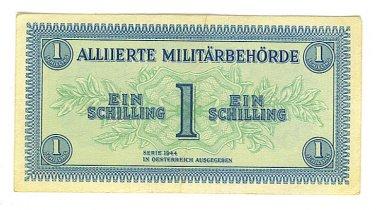 WW II Allied Military Currency - AUSTRIA - 1 Schilling