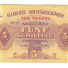 WW II Allied Military Currency - AUSTRIA - 5 Schilling