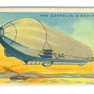 Milo Tobacco Advertising Card - Egyptian Cigarettes - ZEPPELIN Airship