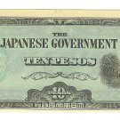 Philippines 10 Peso Japanese Invasion Money ( JIM ) Note - WW II