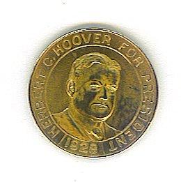 1928 Herbert Hoover Presidential Campaign Token