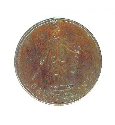 1887 Dengremont Fashions for Spring Pictorial Merchant Token