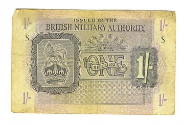 British Military Authority - WWII 1 Shilling Note