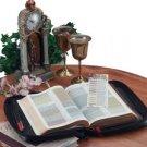 Italian Stone Design Genuine Leather Bible Cover