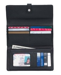 Giovanni Navarre Ladies Black Leather Checkbook/Wallet.
